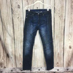 🌕4/$15🌕 Divided Dark Wash Ribbed Skinny Jeans 31